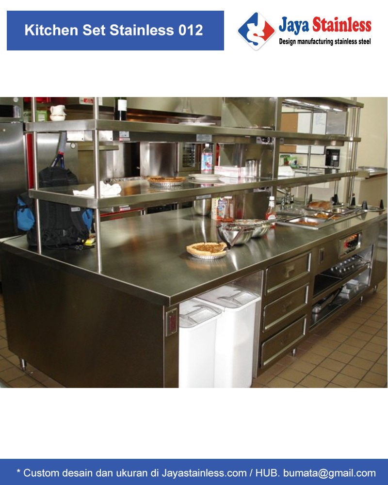 Kitchen set stainless dapur restoran pt bumi mataritama for Kitchen set restoran