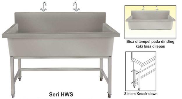 Hand wash sink - meja cuci tangan stainless