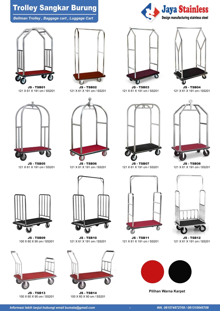 Katalog Trolley sangkar burung