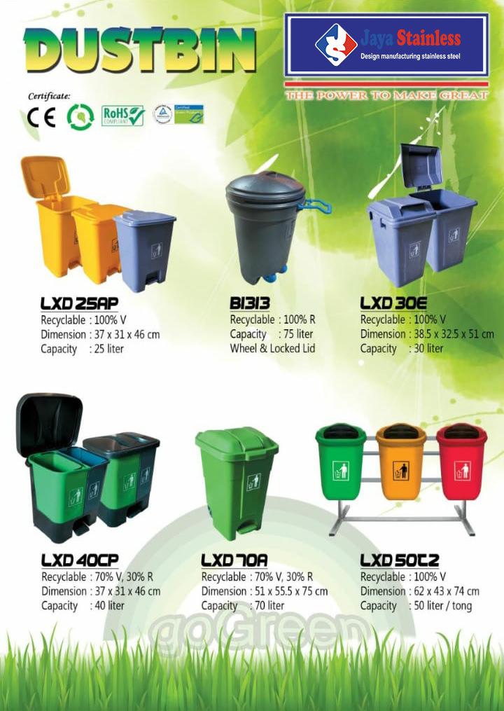 Katalog Tempat sampah plastik HDPE JS