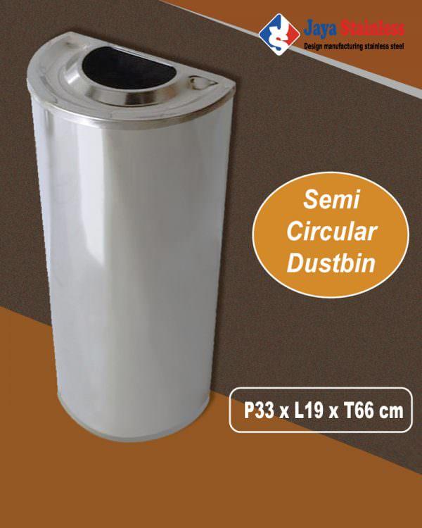 Semi circular dustbin (tong sampah setengah bulat)