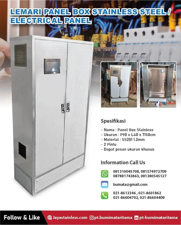 Lemari panel box stainless – Panel elektrical