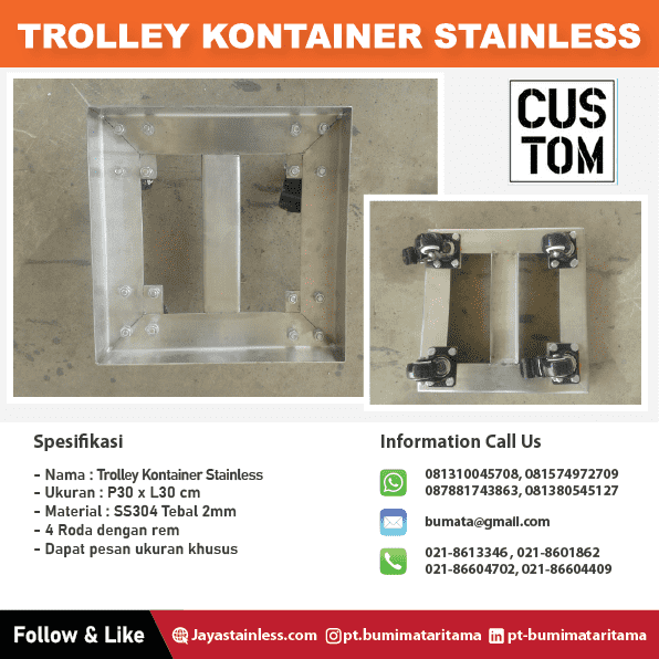 Trolley kontainer stainless