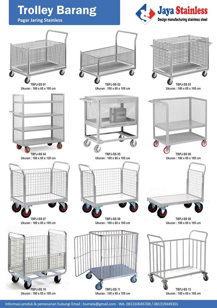 Katalog Trolley barang pagar jaring stainless