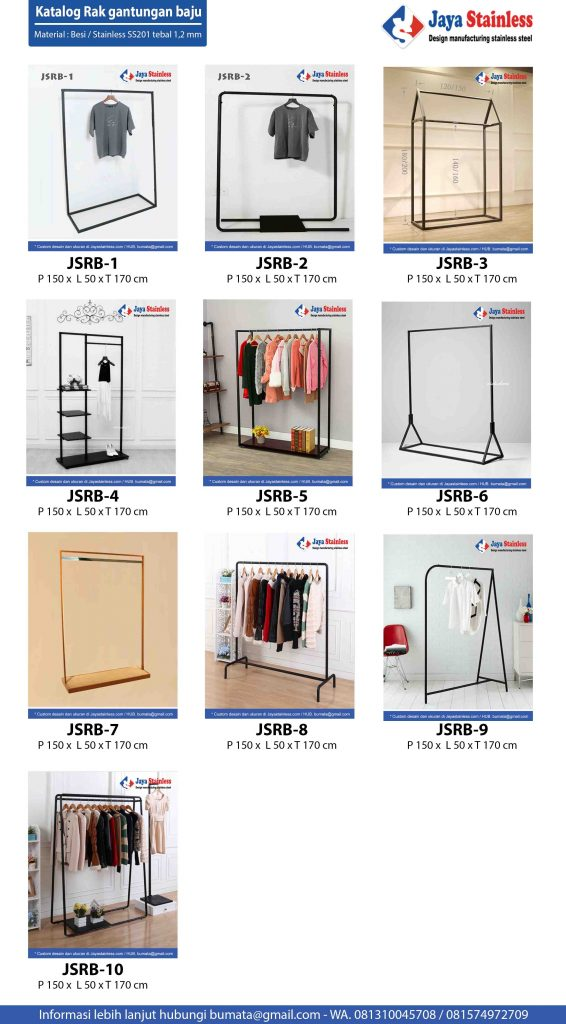 Katalog Rak gantungan baju / Trolley hanger stainless