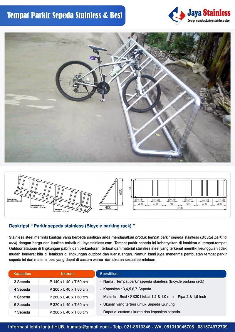 Katalog Tempat parkir sepeda stainless & besi