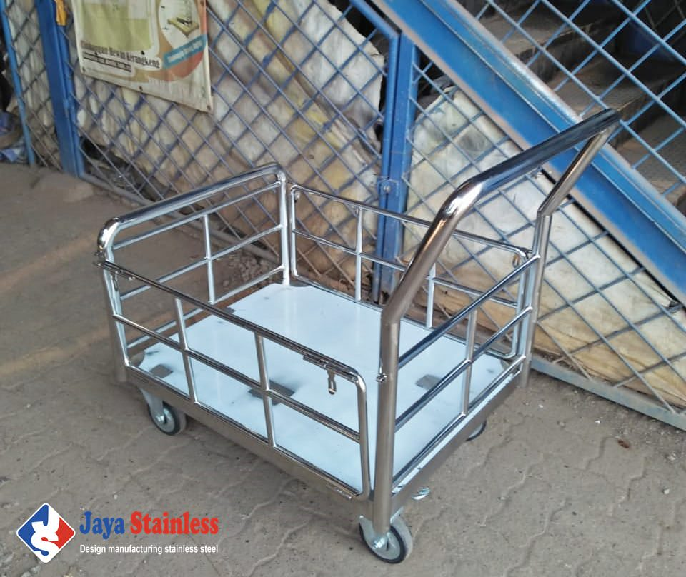 Trolley angkut galon air stainless JS-TGA02