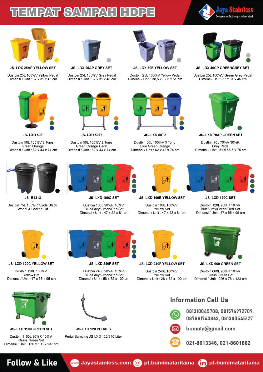 Katalog Tempat sampah Plastik HDPE