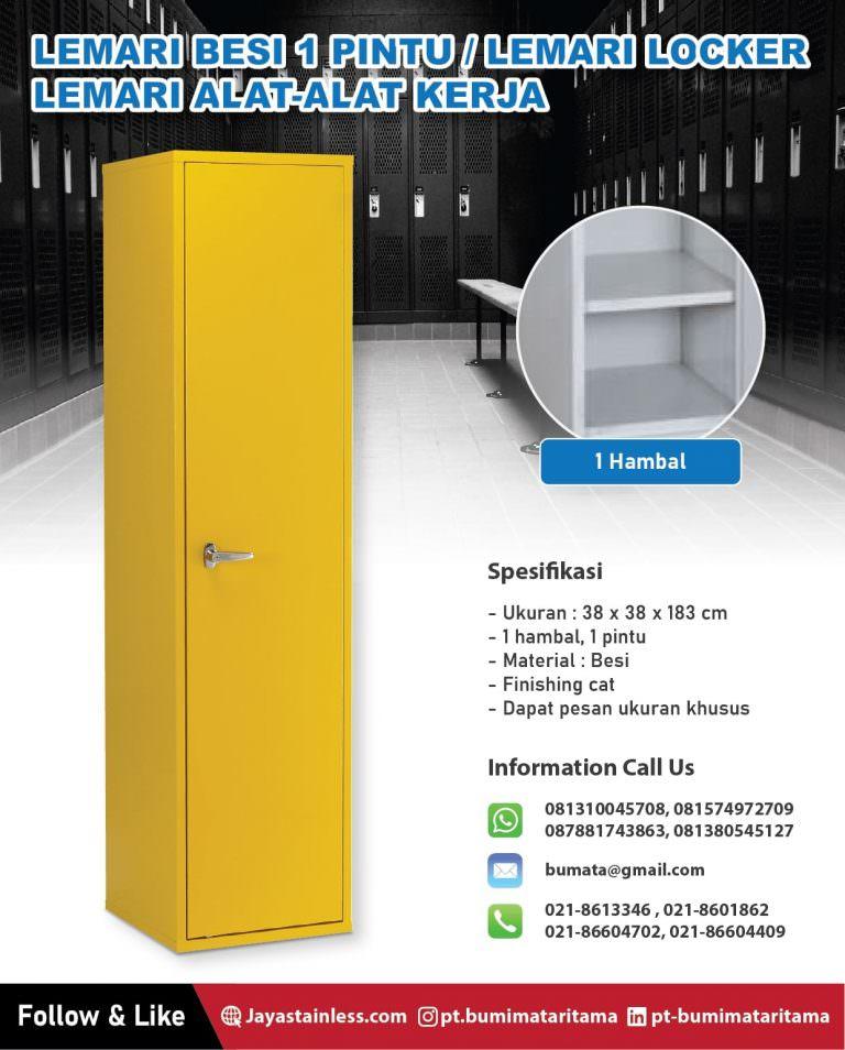 Lemari besi 1 pintu – Lemari locker alat kerja