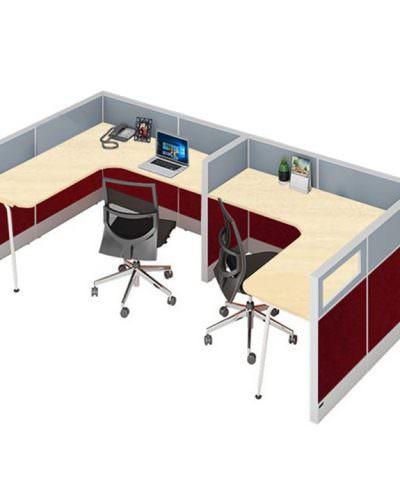 Meja kerja partisi kantor 2 unit diskon 20%