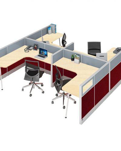 Meja kerja partisi kantor 4 unit diskon 20%
