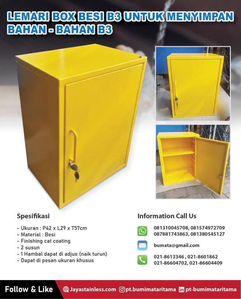 Lemari box B3 untuk menyimpan bahan-bahan B3