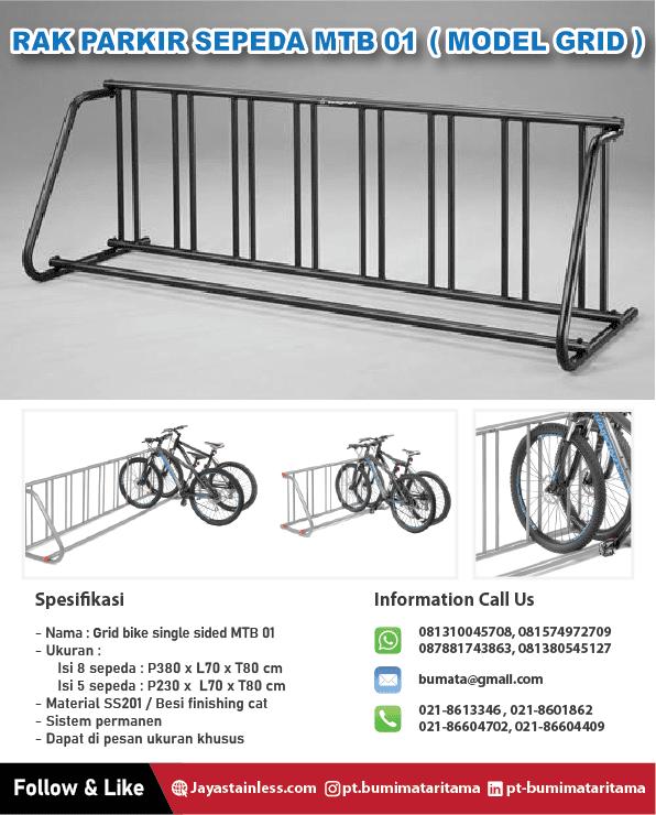 Rak Parkir Sepeda MTB 01 – Grid bike rack single sided