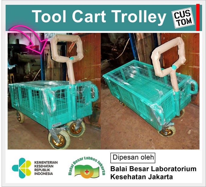 Tool Cart Trolley (Trolley Barang Besi)
