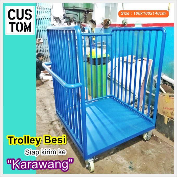 Parcel trolley besi JS (Trolley Barang)
