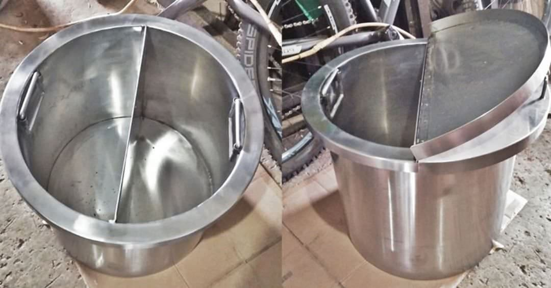 Drum stainless dengan tutup FOODGRADE