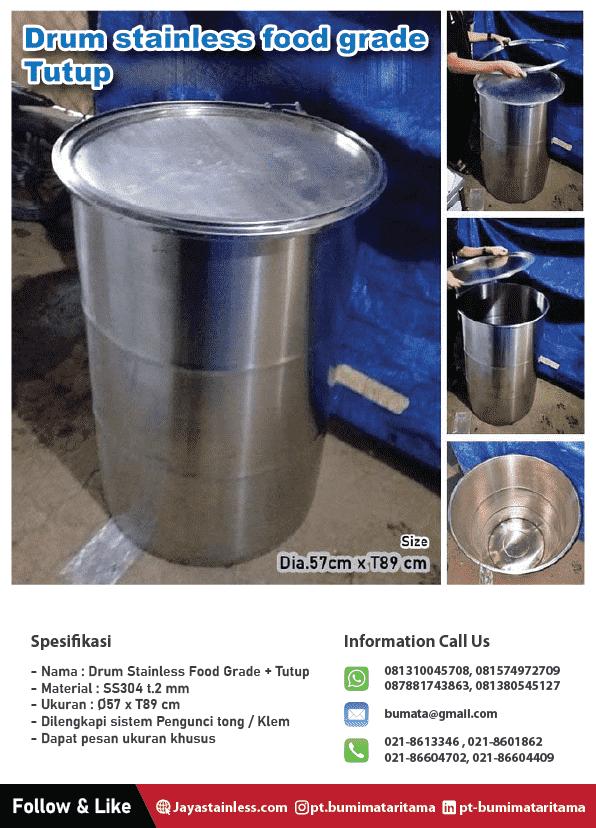 Drum barrel stainless
