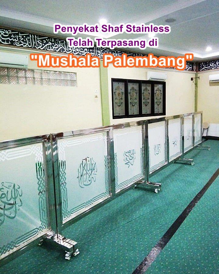 Pembatas shaf sholat stainless mushola palembang
