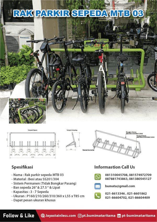 Tempat parkir sepeda MTB 03