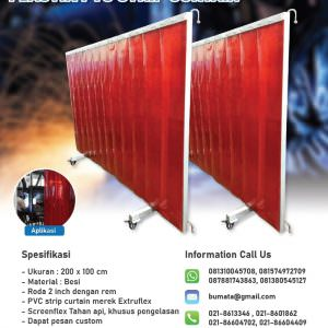 Partisi Las / Tirai welding screen PVC curtain