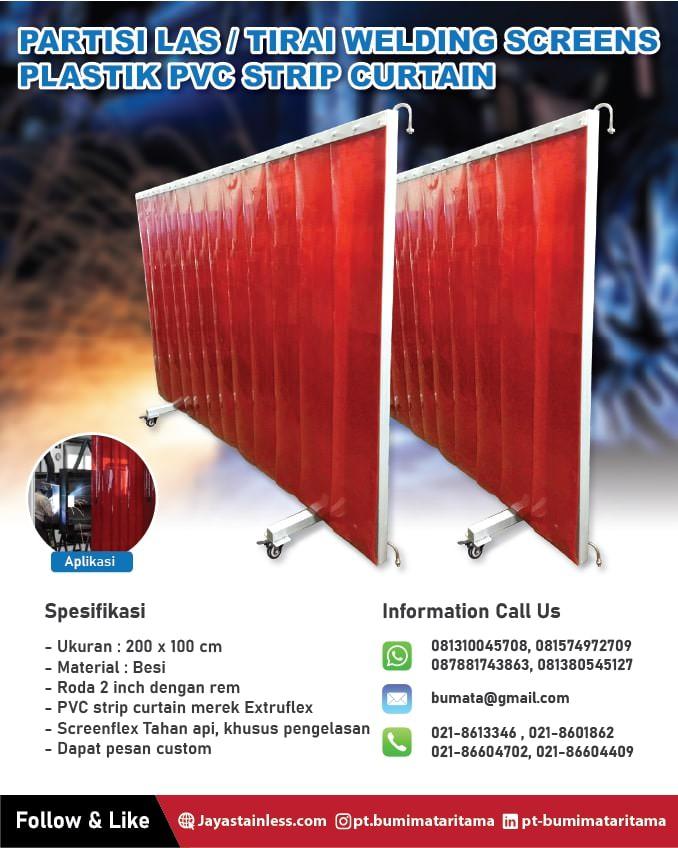 Partisi Las / Tirai welding screen PVC curtain