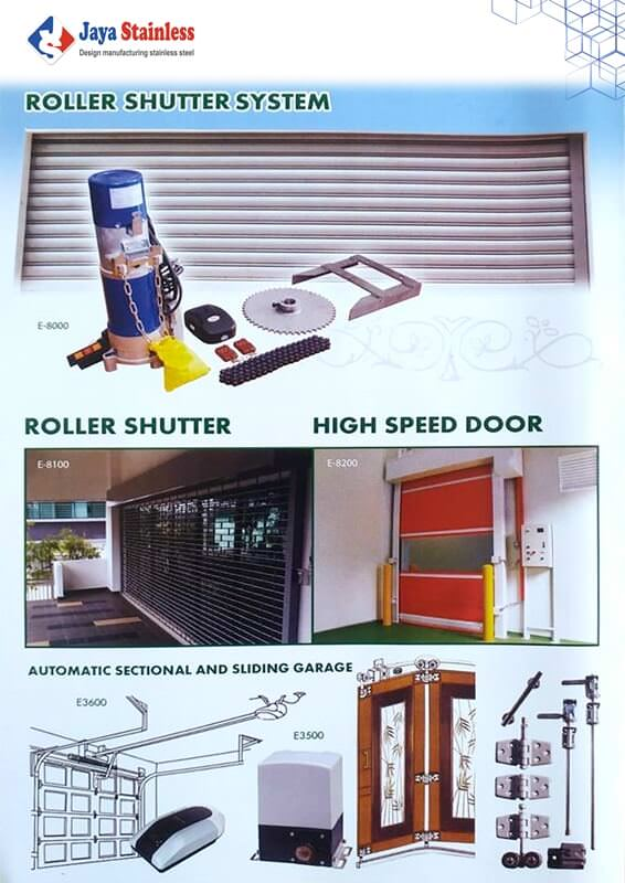 Roller Shutter System - Automatic Section and Sliding Garage