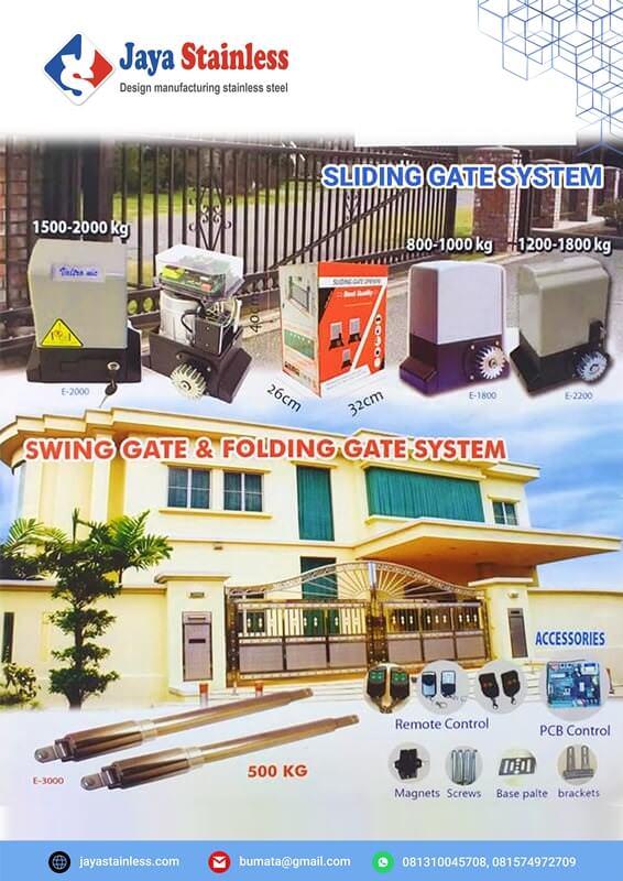 Sliding Gate System & Swing Gate dan Folding Gate System