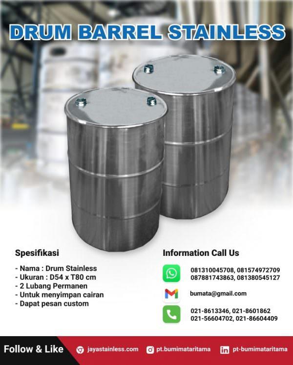 Drum barrel stainless custom