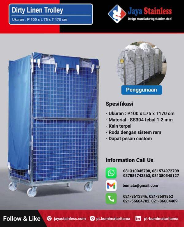 Dirty Linen Trolley – Medical & Hospital Laundry Trolley
