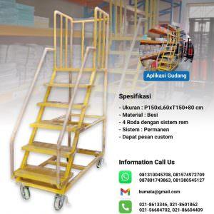 KATALOG - Push ladder custom besi finishing kuning