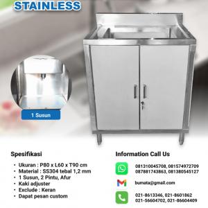 KITCHEN SINK STAINLESS - meja sink cabinet